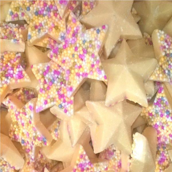 White Chocolate Stars Retro Sweets