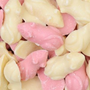 Pink And White Chocolate Mice Retro Sweets