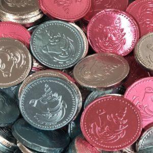 Milk Chocolate Unicorn Coins Retro Sweets