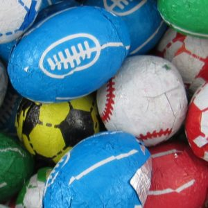 Chocolate Sports Balls Retro Sweets