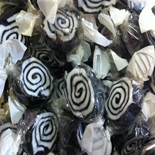 Liquorice Toffee Whirls Retro Sweets