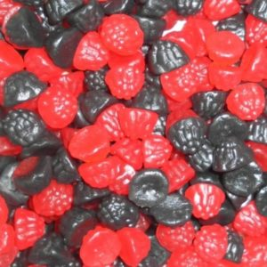 Blackberry And Raspberry Retro Sweets