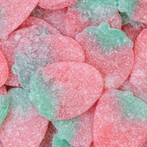 Vegan Fizzy Jelly Strawberries Retro Sweets