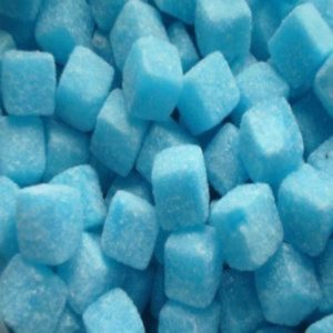 Blue Raspberry Cubes Retro Sweets