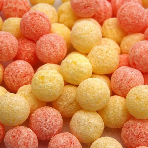 Orange And Lemon Fizz Balls Retro Sweets