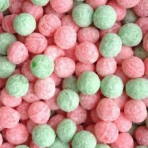 Apple And Watermelon Fizz Balls Retro Sweets