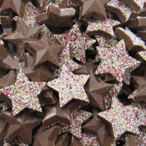 Chocolate Stars Retro Sweets