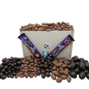 Chocolate covered Fruit And Nut Sweet Gift Box of British Retro Sweets