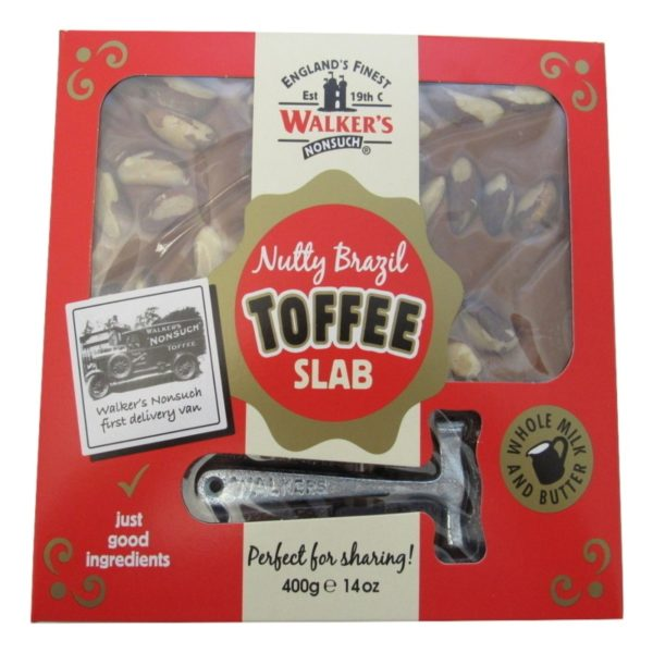 Walkers Nonsuch Nutty Brazil Toffee Slab Retro Sweets