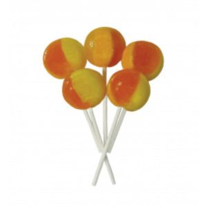 Orange and Pineapple Joseph Dobson Mega Lollipop Retro Sweet