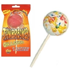Jawbreaker on a Stick Lollipop Retro Sweets