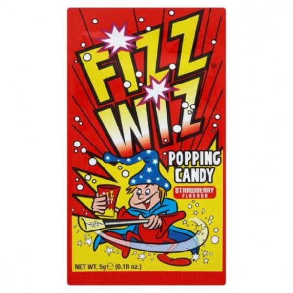Strawberry Fizz Wiz Popping Candy Retro Sweets