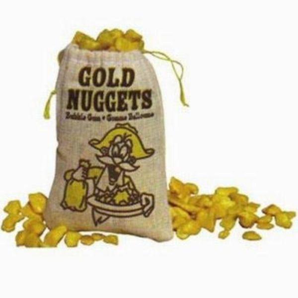 Golden Gum Nuggets Bubblegum Retro Sweets