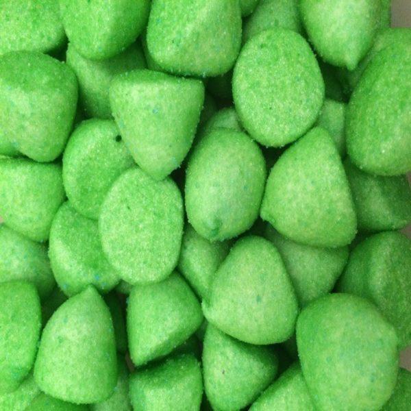 Green Marshmallow Paintballs Retro Sweets