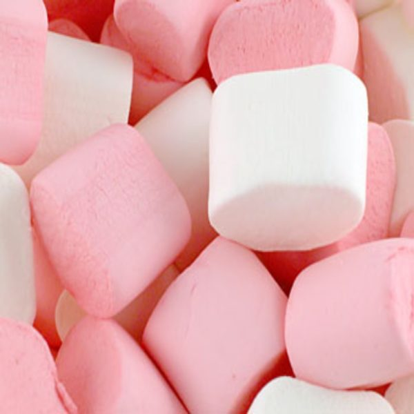 Pink And White Marshmallows Retro Sweets