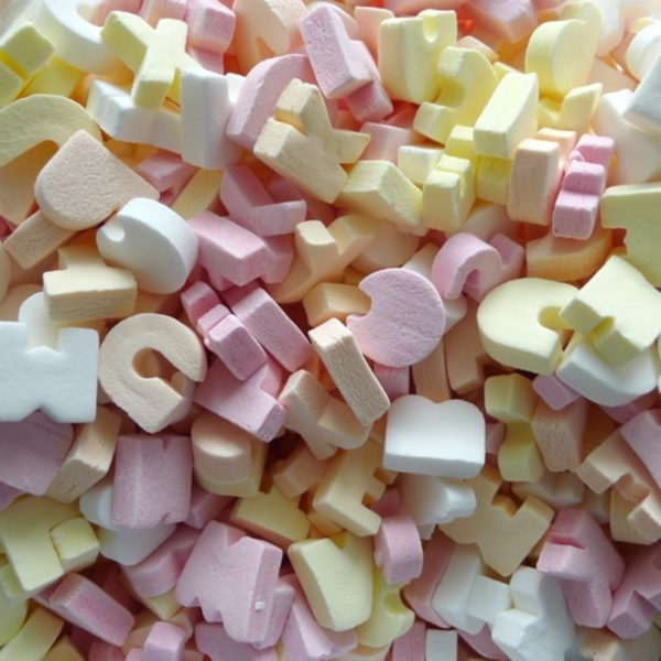 ABC Candy Letters Retro Sweets