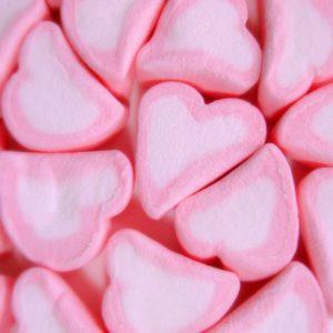 Marshmallow Hearts Retro Sweets