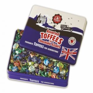 Walkers Nosuch Assorted Toffees And Chocolate Eclairs Tin Retro Sweets
