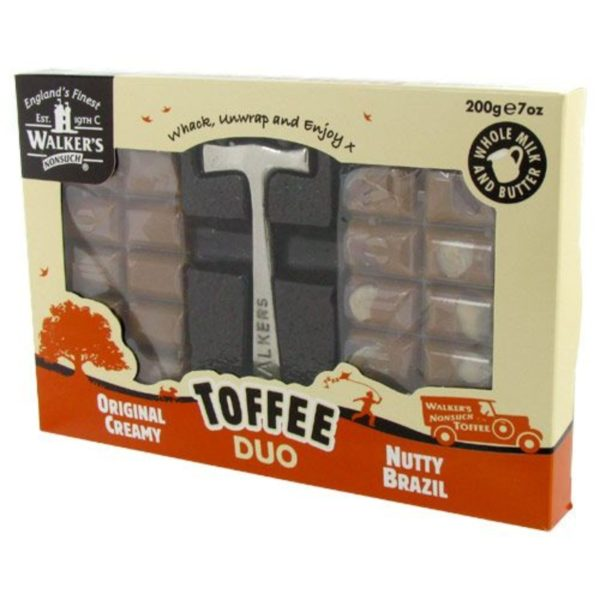 Walker's Nonsuch Nutty Brazil Toffee Duo Hammer Pack