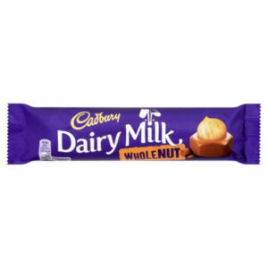 Cadburys Dairy Milk Whole Nut Chocolate Bar Retro Sweets
