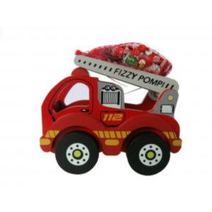 Wooden Fire Engine with Christmas Chocolates Christmas Sweets