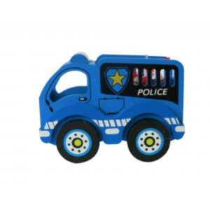 Wooden Police Truck with Christmas Chocolates Christmas Sweets