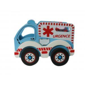 Wooden Ambulance with Christmas Chocolates Christmas Sweets