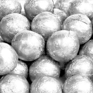 Milk Chocolate Silver Foiled Balls