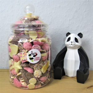 Large Chocolate Candy Sweet Jar Retro Sweets
