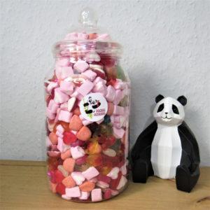 Extra Large I Love You Sweet Jar Retro Sweets