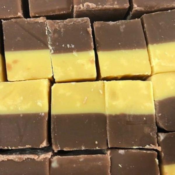 Chocolate And Banana Fudge Retro Sweets