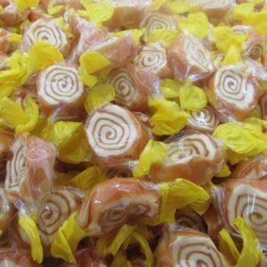 Banana Toffee Whirls Retro Sweets